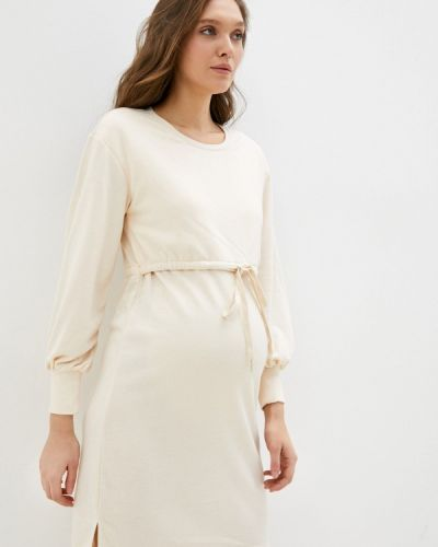 Прямое платье - бежевое Mama.licious