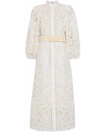 Хлопковое платье миди Zimmermann