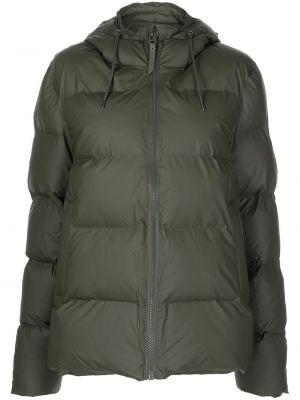 Зеленая куртка из полиэстера Rains