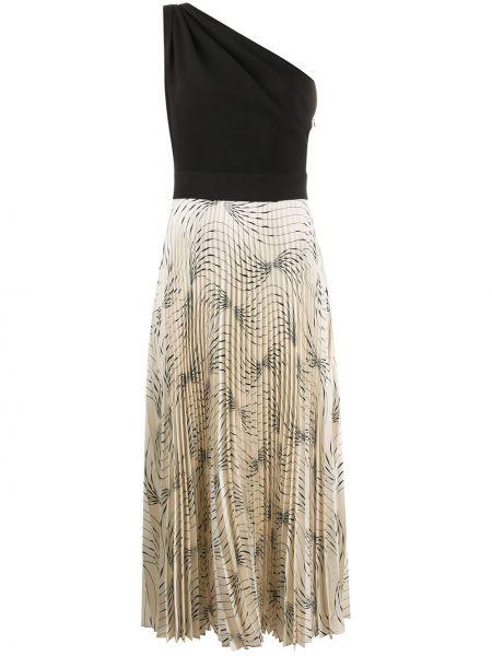 Платье миди на одно плечо с абстрактным принтом Victoria, Victoria Beckham