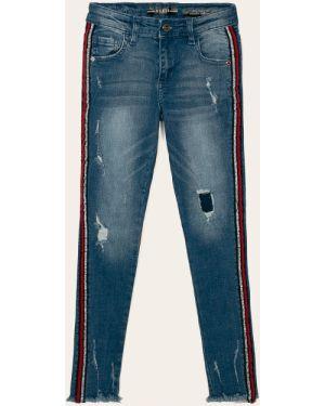 Джинсы зауженные кожаный Guess Jeans