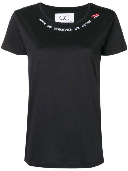 Черная прямая рубашка с коротким рукавом с лебяжьим пухом Quantum Courage