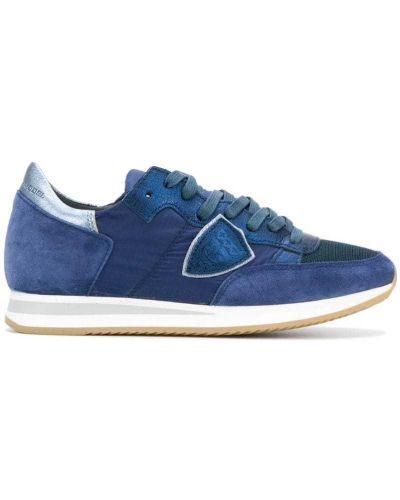 Синие кроссовки замшевые Philippe Model