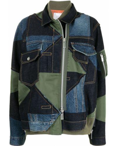 Джинсовая куртка на молнии - синяя Sacai