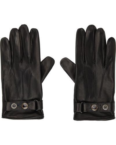 Черные кожаные перчатки Alexander Mcqueen