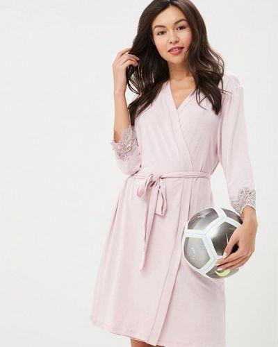 Розовый домашний халат Дефиле