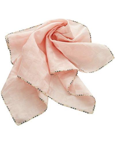 Różowa poszetka bawełniana Burberry Vintage