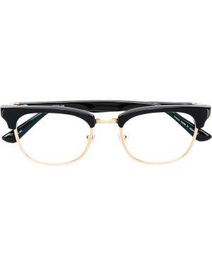 Złote czarne okulary Matsuda