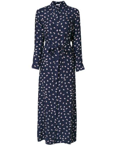 Платье макси на пуговицах с длинными рукавами P.a.r.o.s.h.