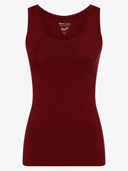 Czerwona T-shirt basic Marie Lund