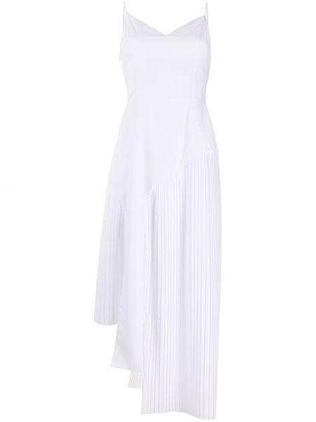 Biała sukienka asymetryczna bez rękawów Each X Other