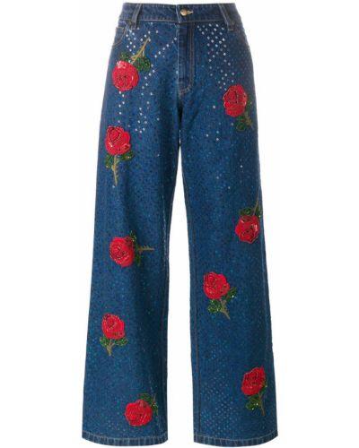 Хлопковые джинсы - синие Ashish