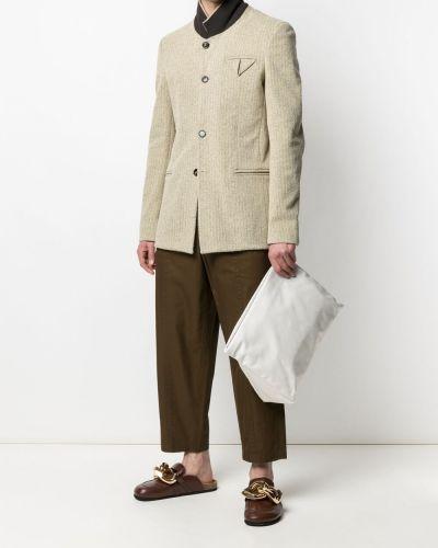 Długi płaszcz bawełniany z długimi rękawami Bottega Veneta