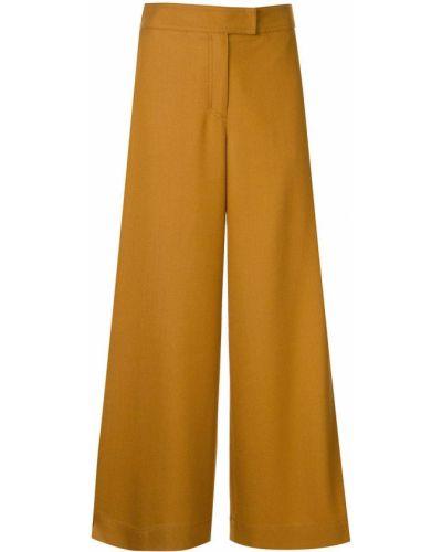 Горчичные свободные брюки с карманами свободного кроя Tomorrowland