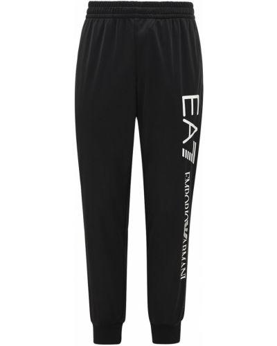 Хлопковые спортивные спортивные брюки с завязками эластичные Ea7 Emporio Armani