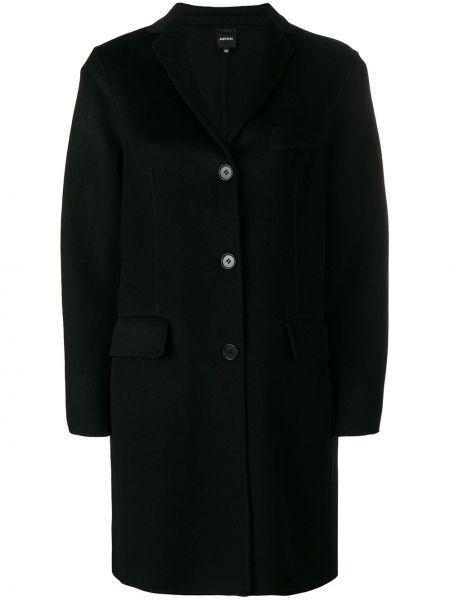 Пиджак черный шерстяной Aspesi