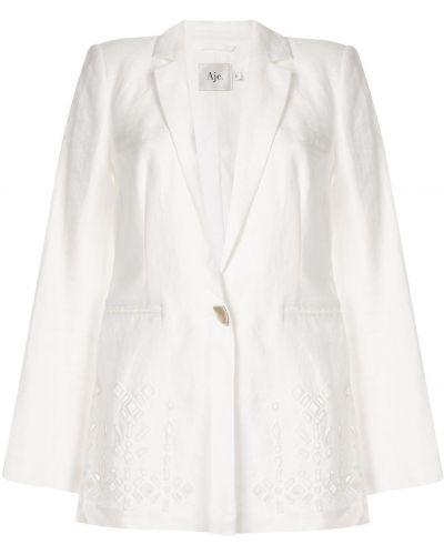 Удлиненный пиджак с карманами айвори Aje