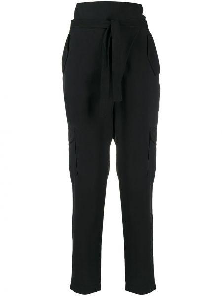 Черные укороченные брюки с карманами из вискозы D.exterior