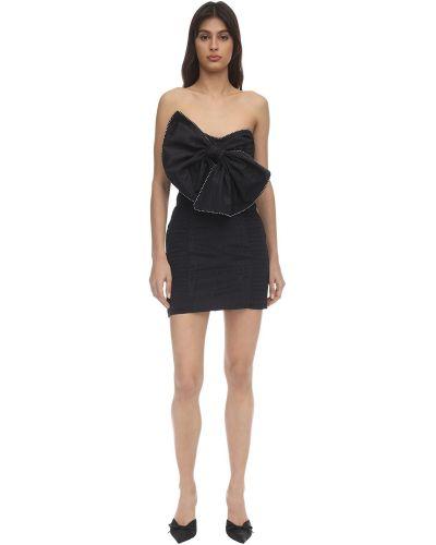 Плиссированное платье мини со стразами без бретелек For Love & Lemons
