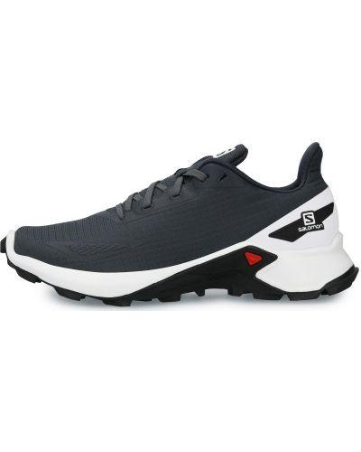 Кожаные кроссовки беговые для бега на шнуровке Salomon
