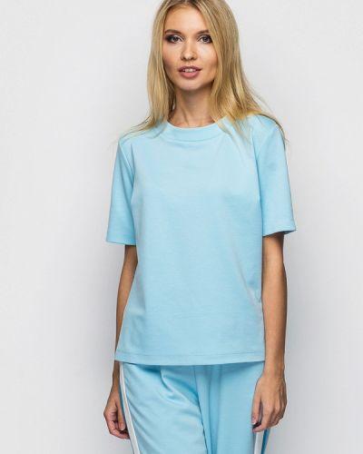Голубая блузка с коротким рукавом Helenka