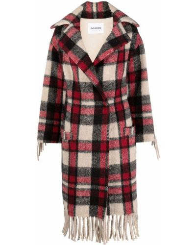 Красное пальто с бахромой Ava Adore