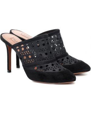 Черные туфли с сеткой Alaïa