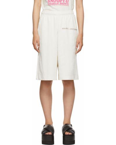 Белые шорты с карманами Marc Jacobs