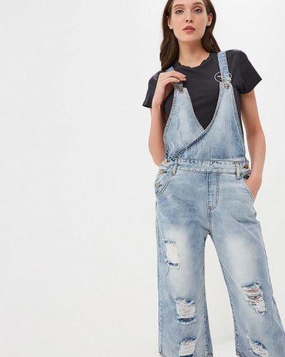 Голубой джинсовый комбинезон Katomi