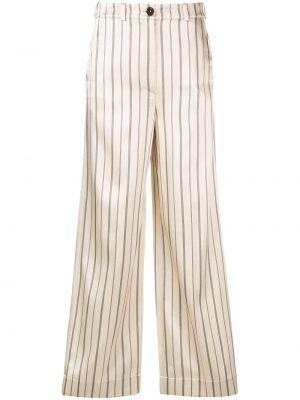 Расклешенные брюки с карманами на пуговицах из вискозы Nehera