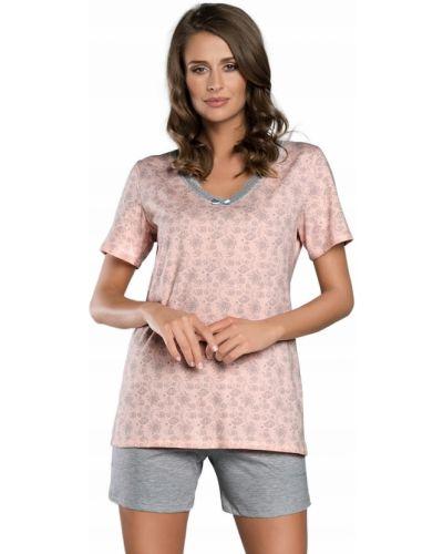 Piżama bawełniana koronkowa krótki rękaw Italian Fashion