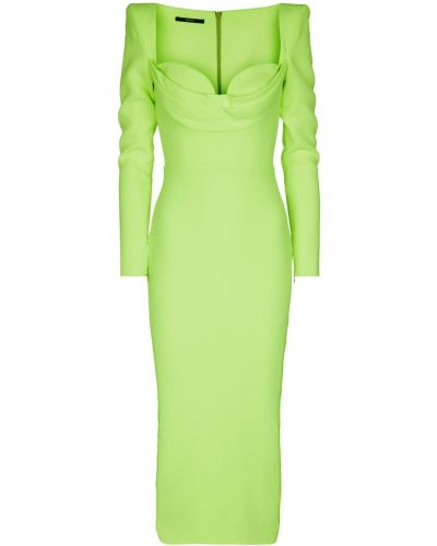 Зеленое платье миди Alex Perry