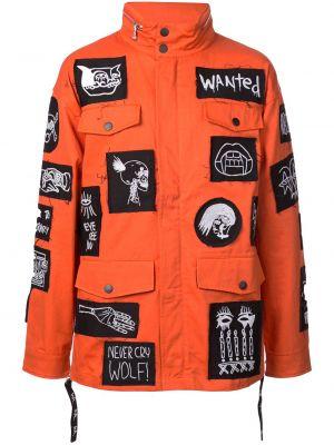 Pomarańczowa kurtka bawełniana Haculla