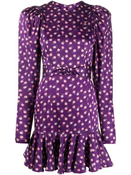 Платье макси с цветочным принтом приталенное Rotate