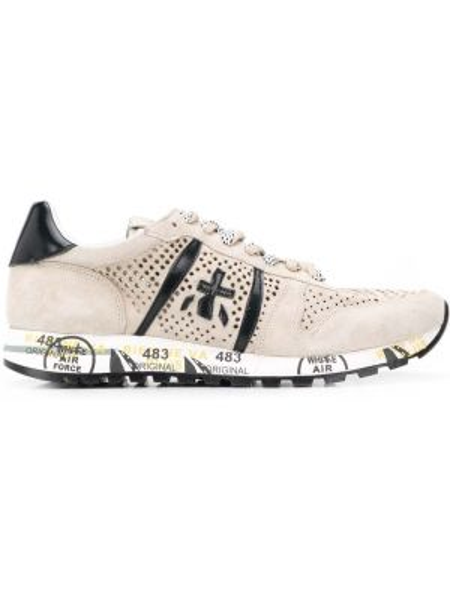 Кожаные кроссовки с перфорацией на шнуровке Premiata