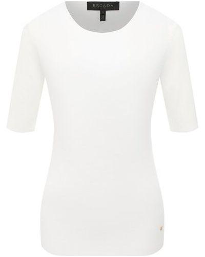 Белый пуловер из вискозы Escada