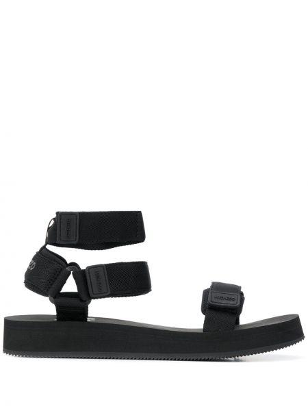 Z paskiem czarny sandały z płótna Kenzo