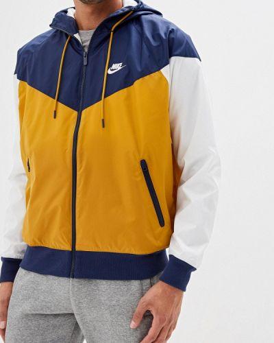 Ветровка белый желтый Nike