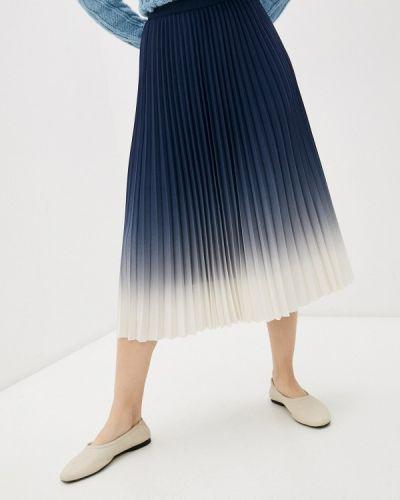 Синяя плиссированная юбка Marks & Spencer