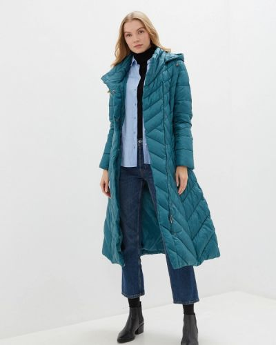Бирюзовая утепленная куртка Odri Mio