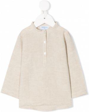Асимметричная с рукавами рубашка с воротником Siola