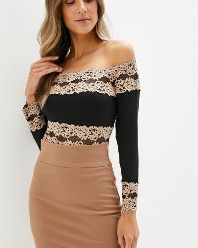 Блузка с открытыми плечами черная Intimissimi