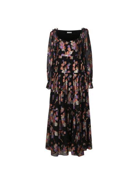 Шелковое платье - черное Vilshenko
