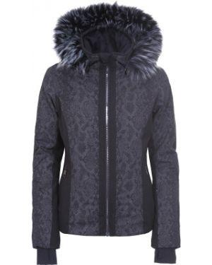 Куртка с капюшоном горнолыжная черная Luhta