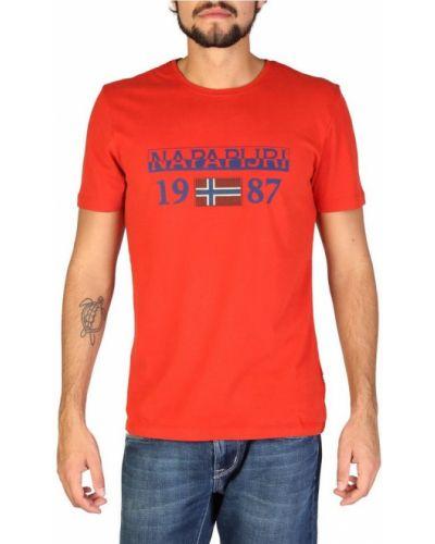 Bawełna bawełna z rękawami t-shirt Napapijri