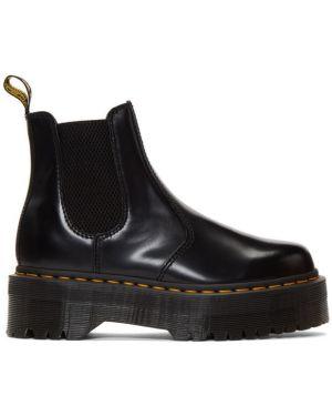 Ботинки на платформе челси черные Dr Martens