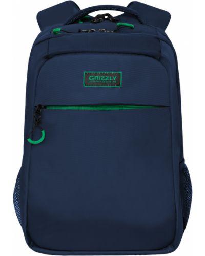 Школьный текстильный ранец на бретелях на молнии Grizzly
