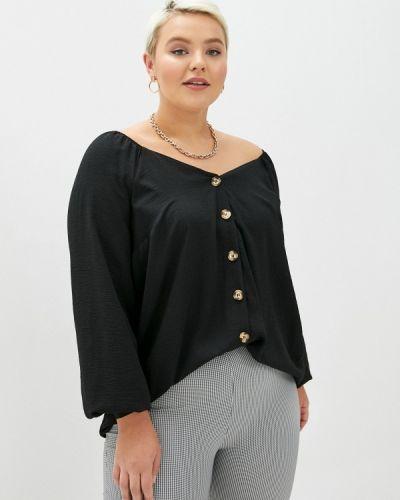 Черная блузка с открытыми плечами Evans