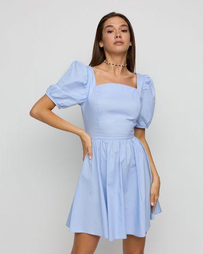 Платье мини с открытой спиной - голубое Karree