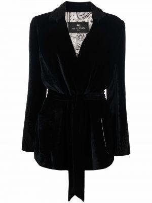 Бархатный пиджак - черный Etro